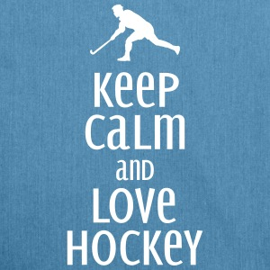 keep calm and love hockey Bags & Backpacks - Shoulder Bag made from recycled material