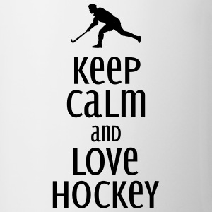 keep calm and love hockey Tassen & Zubehör - Tasse