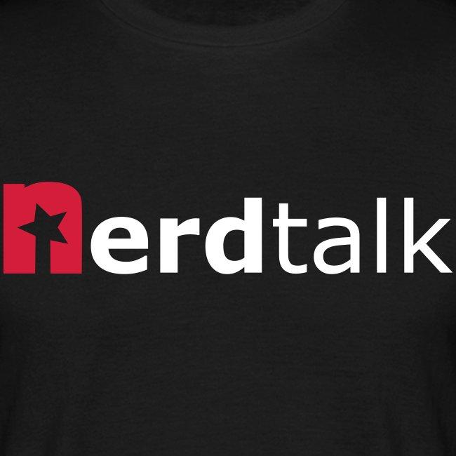 Männer T-Shirt - Schriftzug rot/weiß