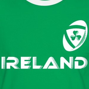 Ireland Rugby Fan (offset)(MENS) - Men's Ringer Shirt