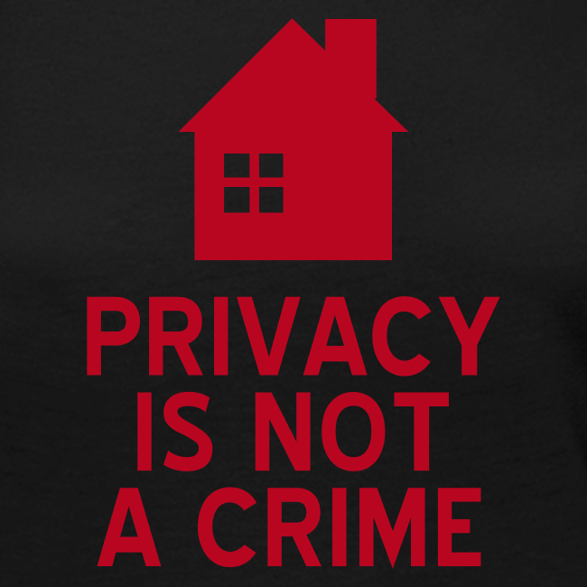 Privacy is not a crime Langarmshirt Frauen