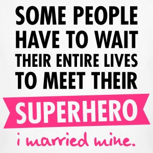 I Married My Superhero T-Shirts - Men's Organic T-shirt