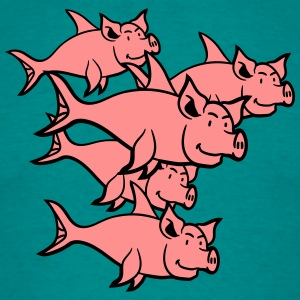 pig piglet sow many fish swarm T-Shirts - Men's T-Shirt