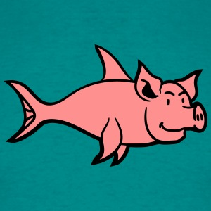 pig piglet sow boar fish grilling meat T-Shirts - Men's T-Shirt
