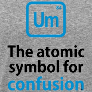 THE CHEMICAL ELEMENT OF CONFUSION T-shirts - Herre premium T-shirt
