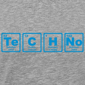 TECHNO PERIODIC TABLE Camisetas - Camiseta premium hombre