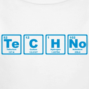 TECHNO PERIODIC TABLE Baby body - Baby bio-rompertje met lange mouwen