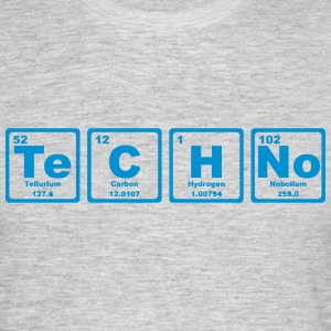 TECHNO PERIODIC TABLE Camisetas - Camiseta hombre