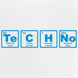 TECHNO PERIODIC TABLE Skjorter - Baby-T-skjorte