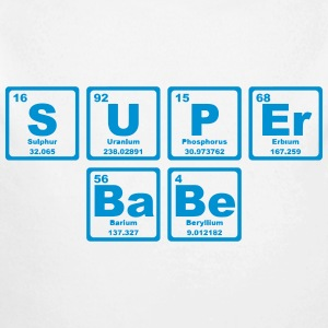 SUPERBABE PERIODIC TABLE OF THE ELEMENTS Babybody - Økologisk langermet baby-body