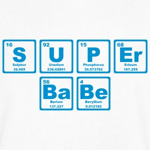 SUPERBABE PERIODIC TABLE OF THE ELEMENTS T-shirts - T-shirt med v-ringning herr