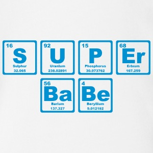 SUPERBABE PERIODIC TABLE OF THE ELEMENTS Shirts - Baby bio-rompertje met korte mouwen