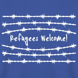 grenze refugees welcome Pullover & Hoodies - Männer Pullover
