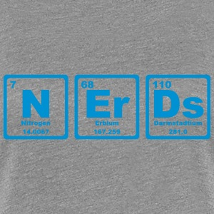 NERDS ELEMENTS OF THE PERIODIC TABLE Koszulki - Koszulka damska Premium
