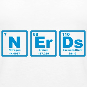NERDS ELEMENTS OF THE PERIODIC TABLE Tops - Women's Premium Tank Top