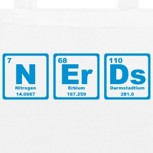 NERDS ELEMENTS OF THE PERIODIC TABLE Bags & Backpacks - EarthPositive Tote Bag
