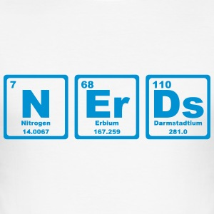 NERDS ELEMENTS OF THE PERIODIC TABLE T-Shirts - Men's Slim Fit T-Shirt