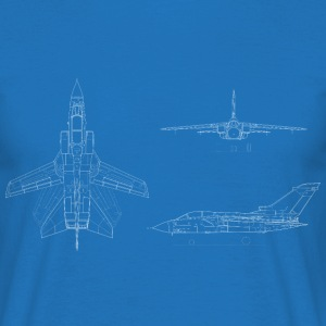 Tornado Jet Blueprint - Men's T-Shirt