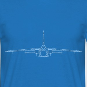 tornado jet fighter white front T-shirts - Herre-T-shirt