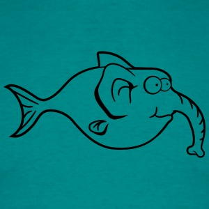 elephant trunk-thick fish funny comic T-Shirts - Men's T-Shirt