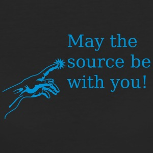 May the source be with you T-Shirts - Frauen Bio-T-Shirt