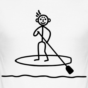 Stand Up paddle surfing T-Shirts - Men's Slim Fit T-Shirt