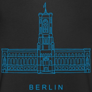 Red City Hall Berlin T-Shirts - Men's V-Neck T-Shirt