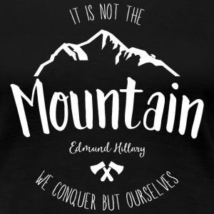 Noir The mountains are calling Tee shirts - T-shirt Premium Femme