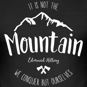 Mountain quote 2 - Men's Slim Fit T-Shirt