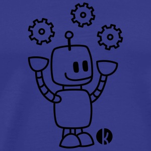 Happy Juggling Robot T-Shirts - Men's Premium T-Shirt