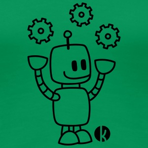 Happy Juggling Robot T-Shirts - Women's Premium T-Shirt