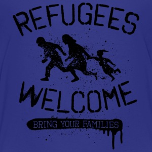 Refugees Welcome - black T-Shirts - Teenager Premium T-Shirt