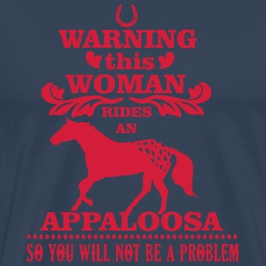 Warning! This woman rides an Appaloosa T-skjorter - Premium T-skjorte for menn