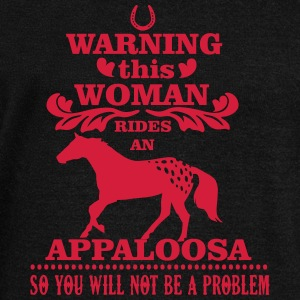 Warning! This woman rides an Appaloosa Sweat-shirts - Pull Femme col bateau de Bella