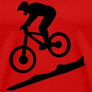 downhill biking - mountain biking Camisetas - Camiseta premium hombre