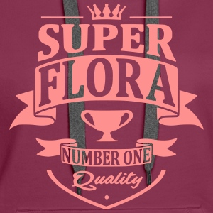 Super Flora Sweat-shirts - Sweat-shirt à capuche Premium pour femmes