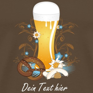 Wheat beer with snack T-Shirts - Men's Premium T-Shirt