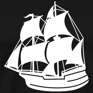 piraten schip T-shirts - Mannen Premium T-shirt