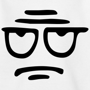 Funny Face, Cartoon Face, Trickfilm, Smiley T-shirts - Børne-T-shirt