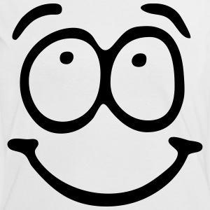 Funny Face, Cartoon Face, Trickfilm, Smiley Tee shirts - T-shirt contraste Femme
