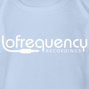 Lofrequency Recordings Classic White Baby Bodysuits - Organic Short-sleeved Baby Bodysuit