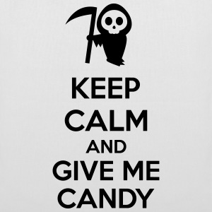 Keep Calm And Give Me Candy Tassen & rugzakken - Tas van stof