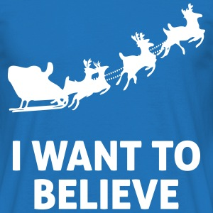 I Want To Believe In Santa Claus Tee shirts - T-shirt Homme