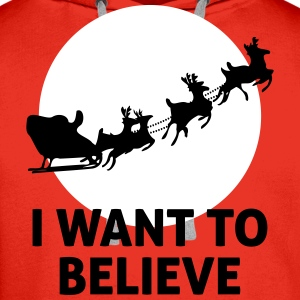 I Want To Believe In Santa Claus Gensere - Premium hettegenser for menn