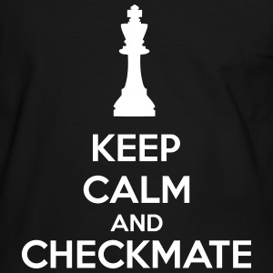 Keep Calm And Checkmate   T-shirts - Mannen contrastshirt