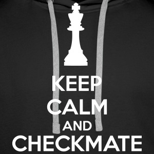 Keep Calm And Checkmate   Felpe - Felpa con cappuccio premium da uomo