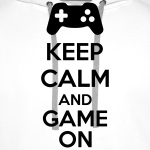 Keep Calm And Game On Sweaters - Mannen Premium hoodie