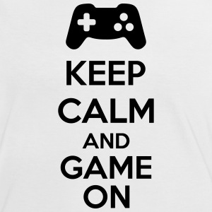 Keep Calm And Game On T-shirts - Dame kontrast-T-shirt