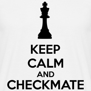 Keep Calm And Checkmate   T-shirts - Mannen T-shirt