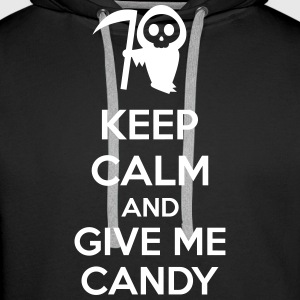 Keep Calm And Give Me Candy Felpe - Felpa con cappuccio premium da uomo